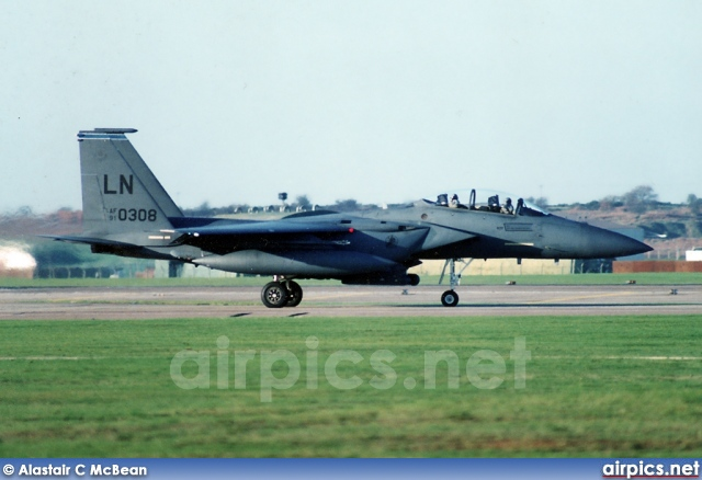 91-0308, Boeing (McDonnell Douglas) F-15-E Strike Eagle, United States Air Force