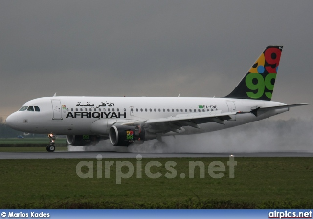 5A-ONC, Airbus A319-100, Afriqiyah Airways