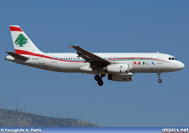 OD-MRT, Airbus A320-200, Middle East Airlines (MEA)