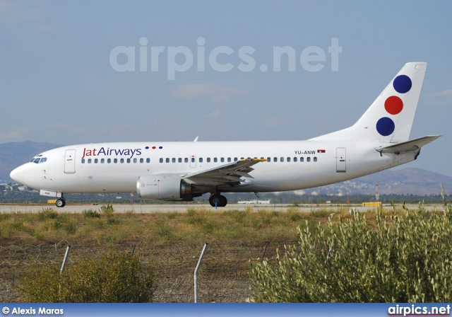 YU-ANW, Boeing 737-300, Jat Airways