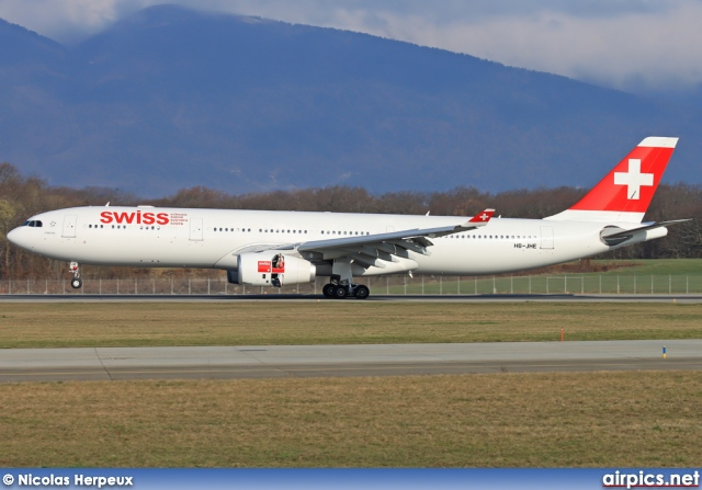 HB-JHE, Airbus A330-300, Swiss International Air Lines
