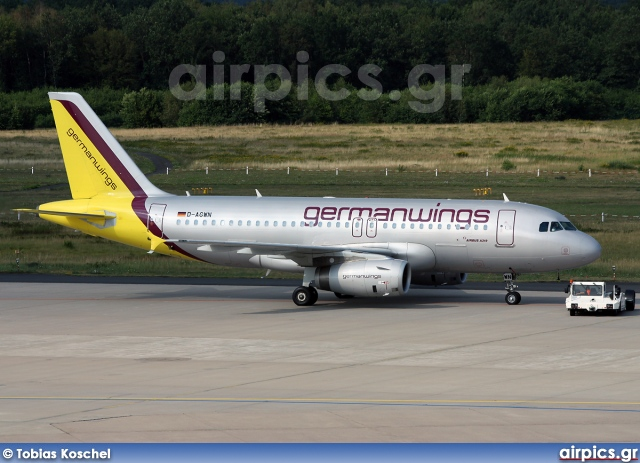 D-AGWN, Airbus A319-100, Germanwings