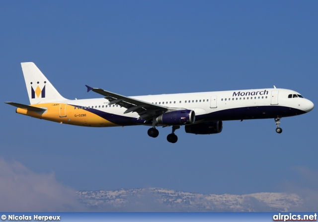 G-OZBE, Airbus A321-200, Monarch Airlines