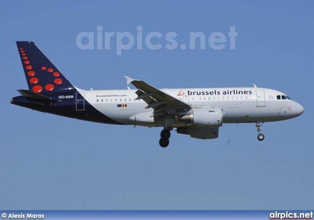 OO-SSR, Airbus A319-100, Brussels Airlines