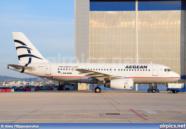 SX-OAN, Airbus A319-100LR, Aegean Airlines