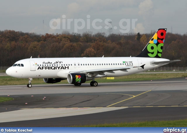 5A-ONK, Airbus A320-200, Afriqiyah Airways
