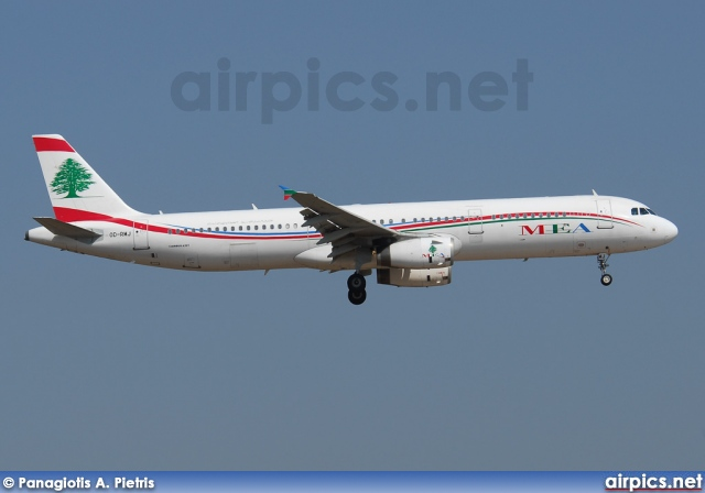 OD-RMJ, Airbus A321-200, Middle East Airlines (MEA)