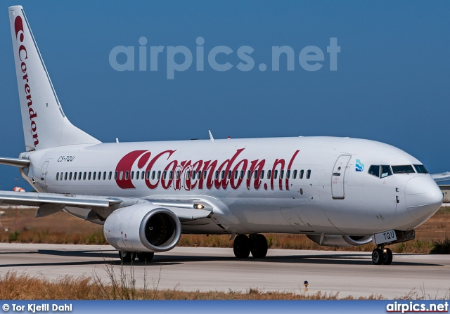 CS-TQU, Boeing 737-800, Corendon Dutch Airlines