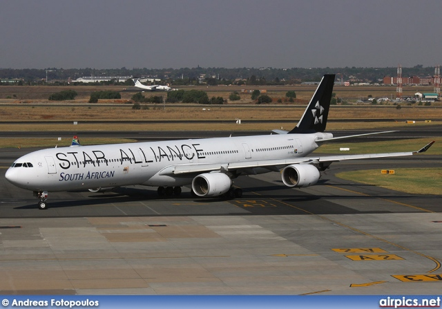 ZS-SNC, Airbus A340-600, South African Airways