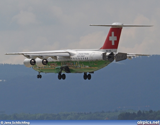 HB-IYS, British Aerospace Avro RJ100, Swiss International Air Lines