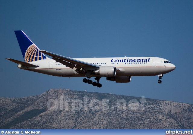 N68160, Boeing 767-200ER, Continental Airlines