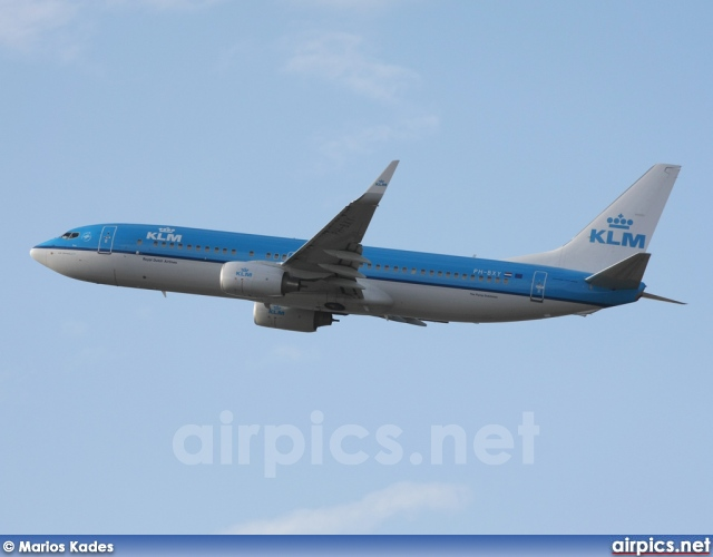 PH-BXY, Boeing 737-800, KLM Royal Dutch Airlines