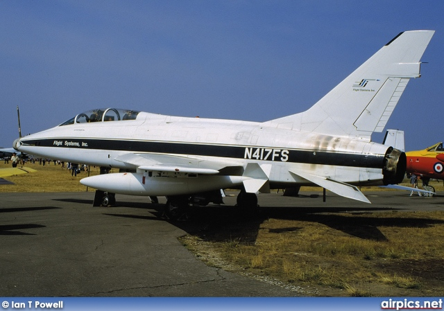 N417FS, North American TF-100-F Super Sabre, Flight Systems Inc