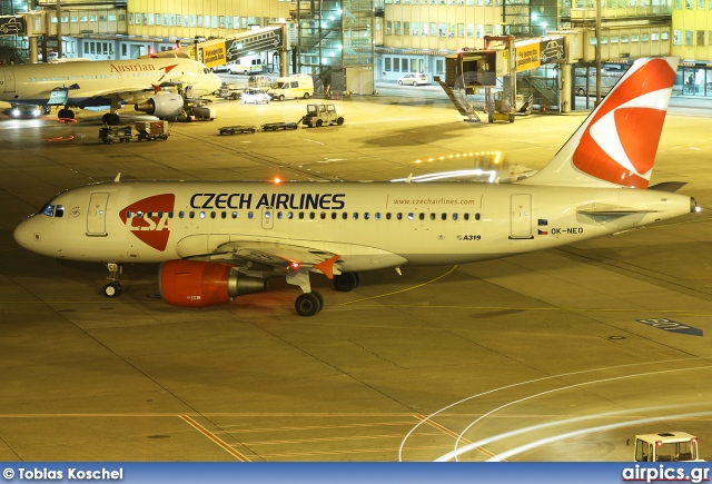 OK-NEO, Airbus A319-100, CSA Czech Airlines