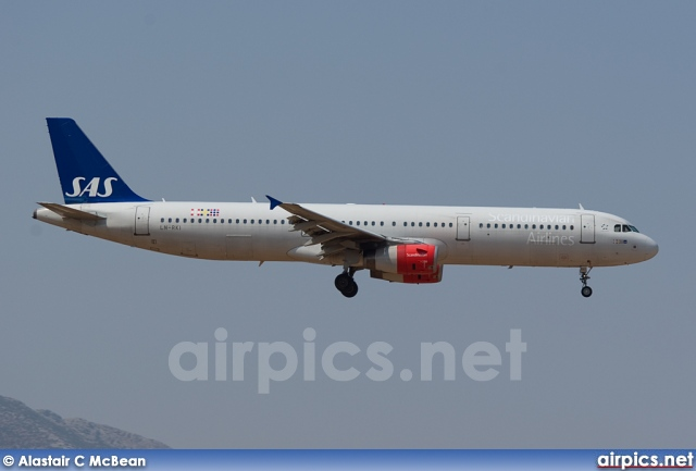 LN-RKI, Airbus A321-200, Scandinavian Airlines System (SAS)