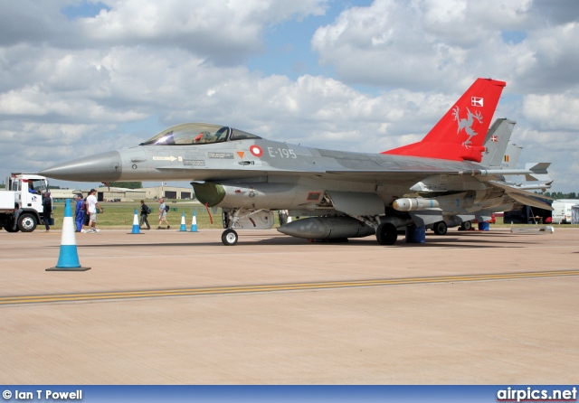 E-195, Lockheed F-16-AM Fighting Falcon, Royal Danish Air Force