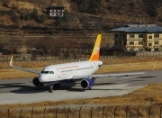 A5-JSW, Airbus A319-100, Druk Air - Royal Bhutan Airlines